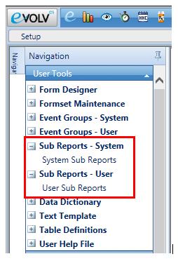 sub-reports-nav-pane