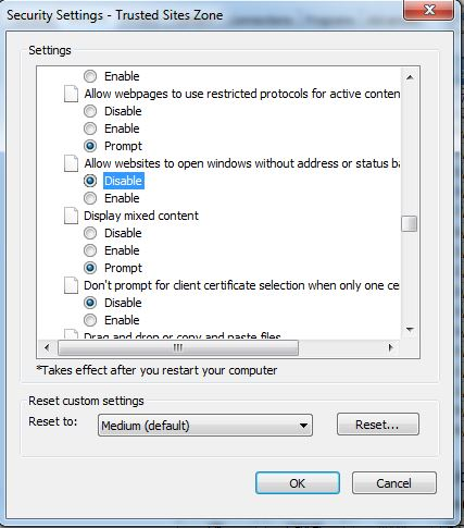 security-settings